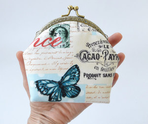 eiffel tower, shabby chic, and makeup bag image