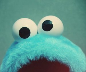 blue, cookie monster, and monster image