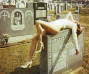 fashion, tombstone, and girl image