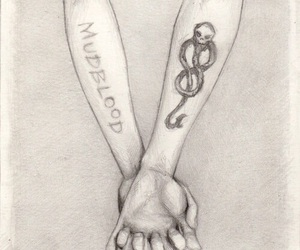harrypotter, scars, and Tattoos image