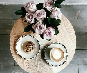 coffee, flowers, and food image