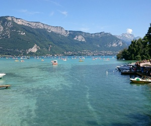 lake, mountain, and annecy image