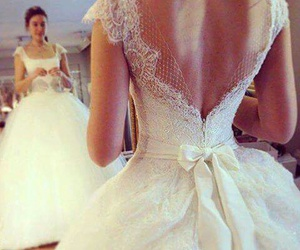 dress, love, and bride image