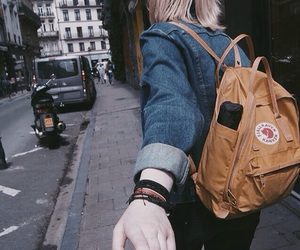 alternative, backpack, and blonde image