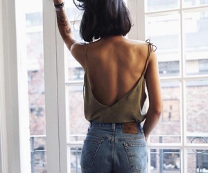 back, girl, and jean image