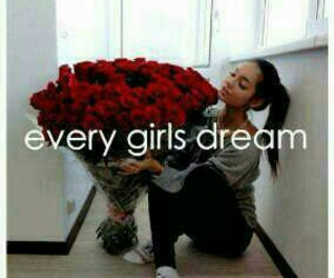 girl, rose, and Dream image