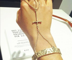 beautiful, bracelets, and chains image