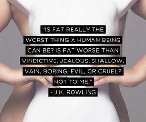 quotes, fat, and jk rowling image