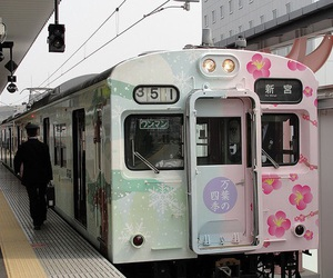 japan, train, and kawaii image