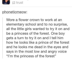 flower crown, funny, and kids image