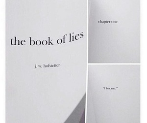 book, I Love You, and lies image