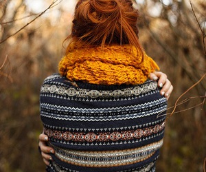 autumn, fall, and scarf image