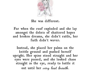different, girl, and strong image