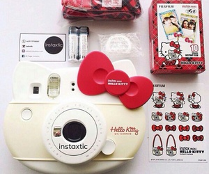 camera, fujifilm, and hello kitty image