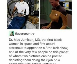 astronaut, space, and black woman image