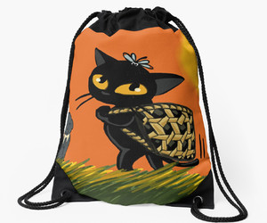 bag, harvest, and cat image
