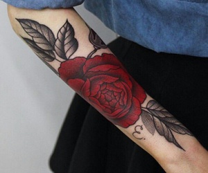 rose tattoo and 🌹 image