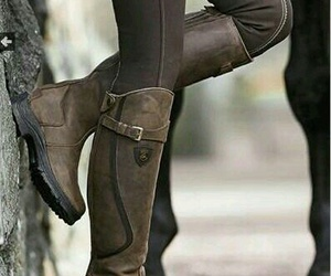 boots, equestrian, and horse image