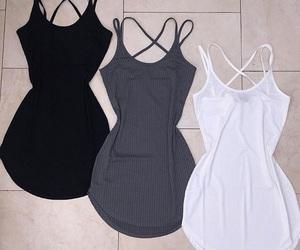black, dresses, and grey image