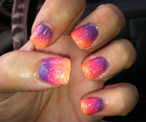 nails, girl, and colorful image