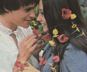 romeo and juliet, couple, and flowers image
