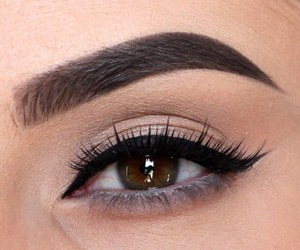 beauty, eyeliner, and friendship image