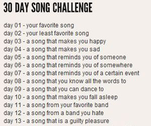 challenge, song, and 30 day image