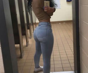 Afro, butt, and curvy image