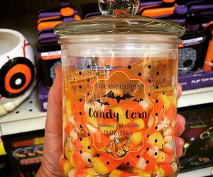 autumn, candle, and candy corn image