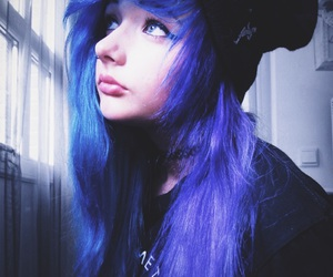 alternative, blue hair, and bmth image