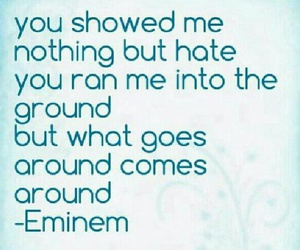 eminem, karma, and what goes around comes around image