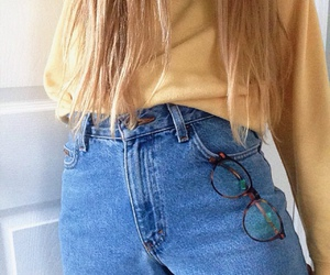 tumblr, jeans, and yellow image