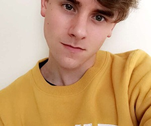connor franta, yellow, and youtube image