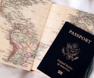 travel, passport, and map image