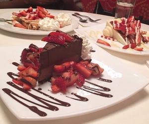 chocolate, food, and strawberries image