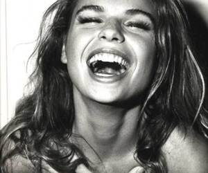 black and white, models, and laughter image