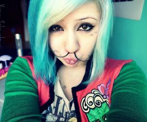 verena schizophrenia, blue hair, and septum image