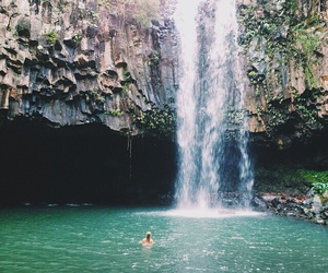 waterfall, summer, and water image