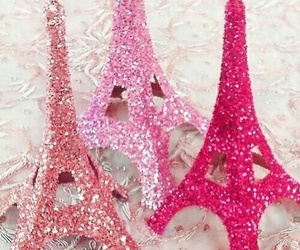 pink, paris, and glitter image