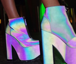 holographic, heels, and hologram image