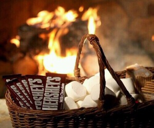 fire, autumn, and chocolate image