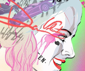 harley quinn, background, and suicide squad image