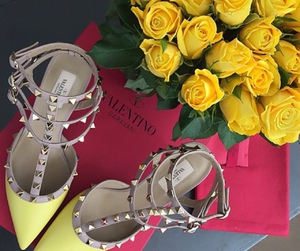 chanel, flats, and Valentino image