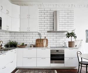 interior, kitchen, and white image