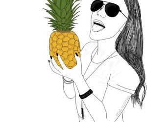 outline, pineapple, and tumblr image