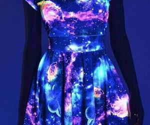 dress, galaxy, and blue image