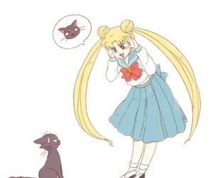 sailor moon, anime, and luna image