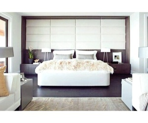 bedroom, modern, and white image