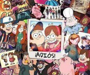 gravity falls, mabel, and bye image