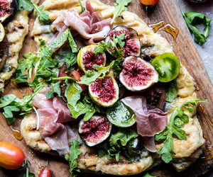 food, fig, and pizza image
